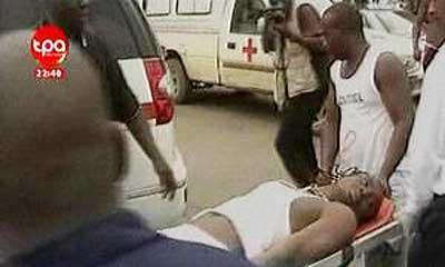Uno de los futbolistas heridos