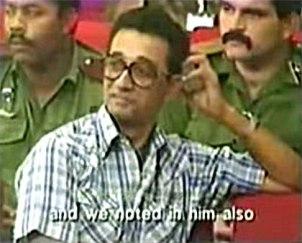 Ochoa durante el jucio